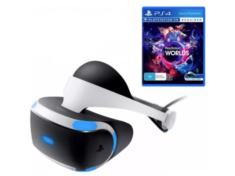 Шлем виртуальной реальности Sony PlayStation VR CUH-ZVR2 + игра VR Worlds очки виртуальной реальности шлем виртуальной реальности sony playstation vr cuh zvr2 для playstation 4 ps719785910