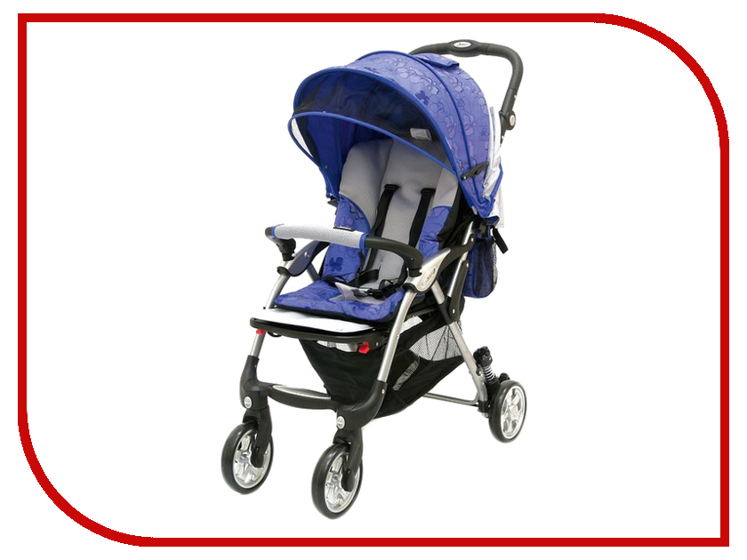 Коляска Jetem Tourneo Blue/Licht Grey коляска трость jetem elegant dark grey blue полоска