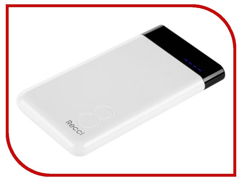 Аккумулятор Recci Power Bank Eight RE-8000 8000mAh White аккумулятор mango device mp 8000wt 8000mah white 16324