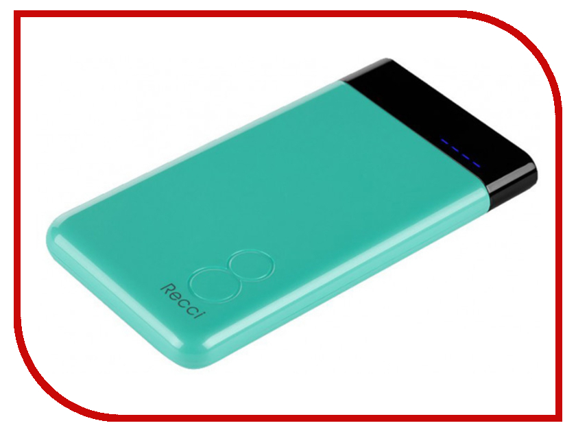 Аккумулятор Recci Power Bank Eight RE-8000 8000mAh Green колонка recci bluetooth travel rbs d1 green