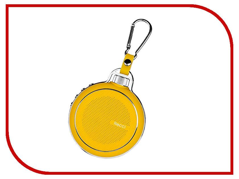 Колонка Recci Bluetooth Travel RBS-D1 Yellow турка apollo rbs 35 robusta