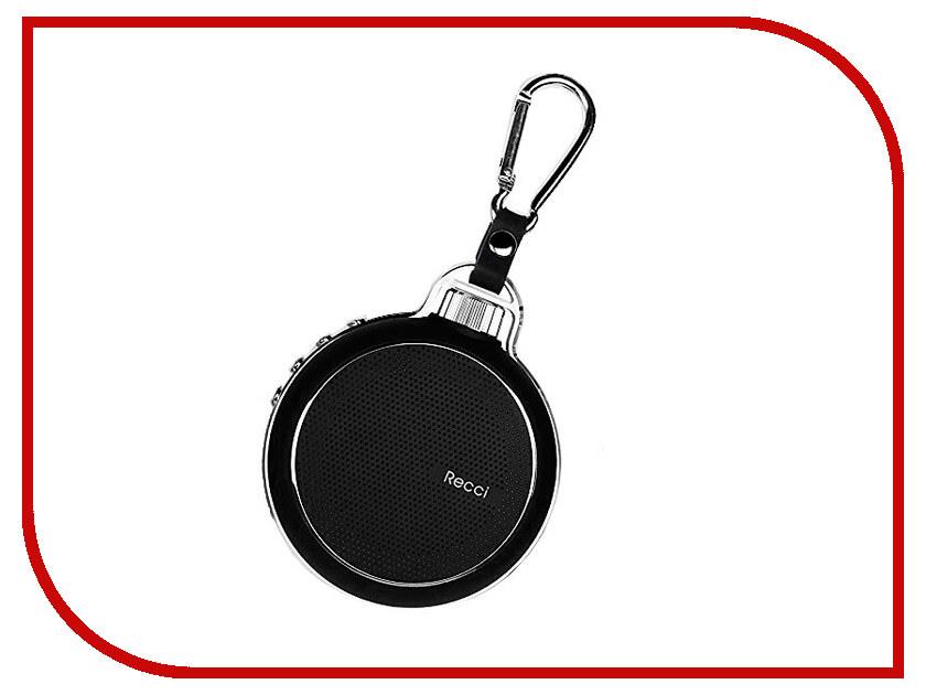 Колонка Recci Bluetooth Travel RBS-D1 Black турка apollo rbs 35 robusta