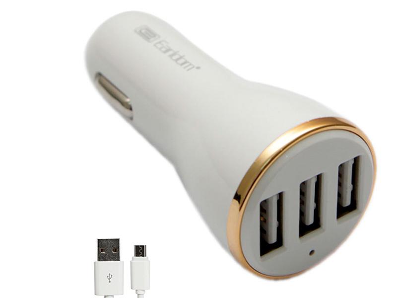 Зарядное устройство Earldom ES-156 3xUSB 3.4A + MicroUSB White