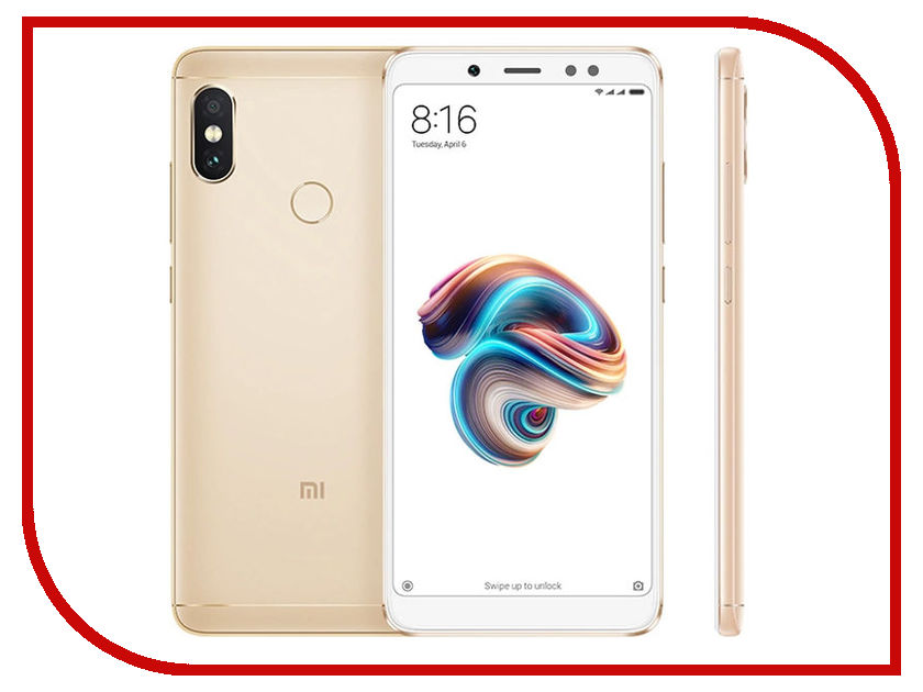Сотовый телефон Xiaomi Redmi Note 5 3/32GB Gold сотовый телефон xiaomi redmi note 5a prime 3gb ram 32gb grey