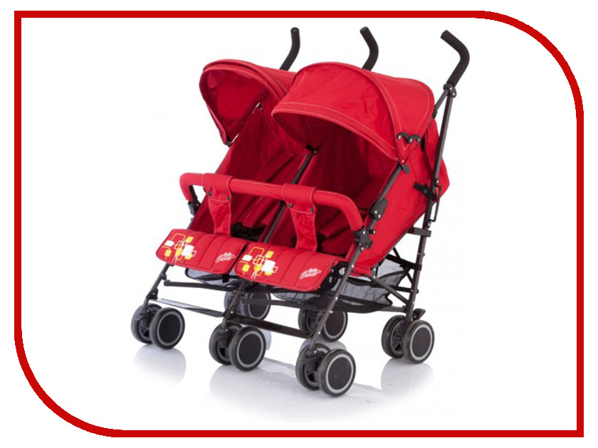 Фото Коляска Baby Care Citi Twin Red