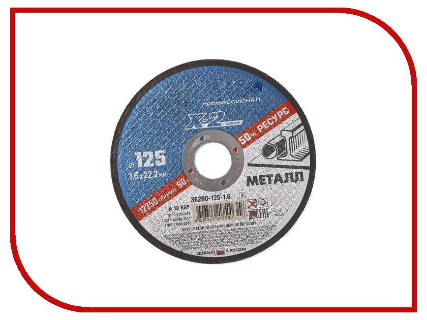 Диск Зубр отрезной по металлу 125х1.6х22.23мм 36200-125-1.6_z02