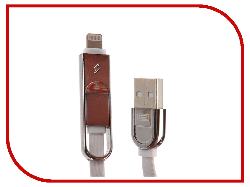 Аксессуар Earldom ET-T63 USB - microUSB/Lightning 8pin White earldom et e3 green