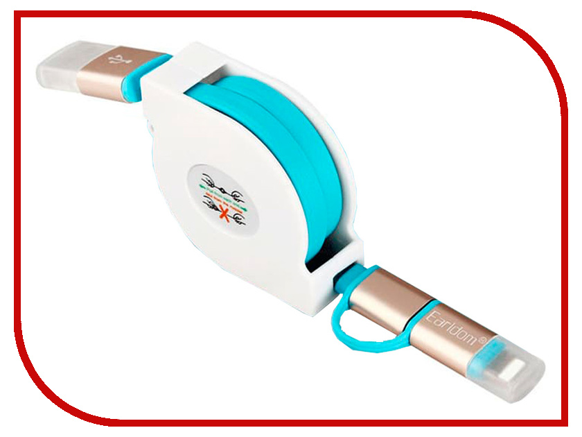 Аксессуар Earldom ET-SS6 USB - microUSB/Lightning 8pin Blue nizi 1440 ss6 1 9 2 1 01 18