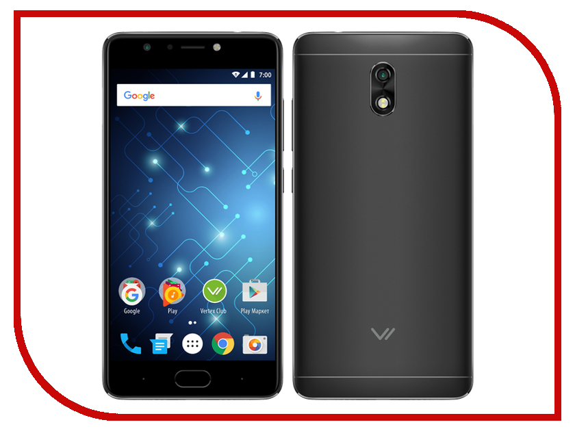 Сотовый телефон Vertex Impress Play LTE Black цена