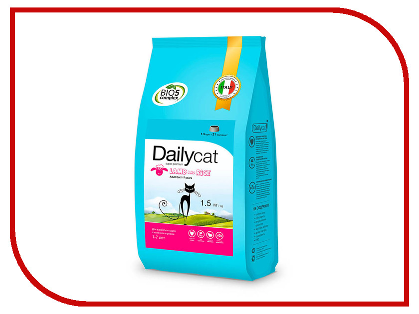 Фото Корм Daily Cat Adult Lumb and Rice 1.5kg 626ДК dk eyewitness top 10 travel guide scotland
