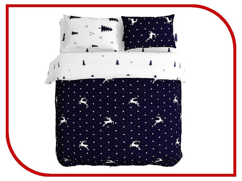Постельное белье Сирень Снегопад в лесу Комплект 1.5 спальный Полисатин КПБМ-10419 постельное белье эго комплект 1 5 спальный полисатин