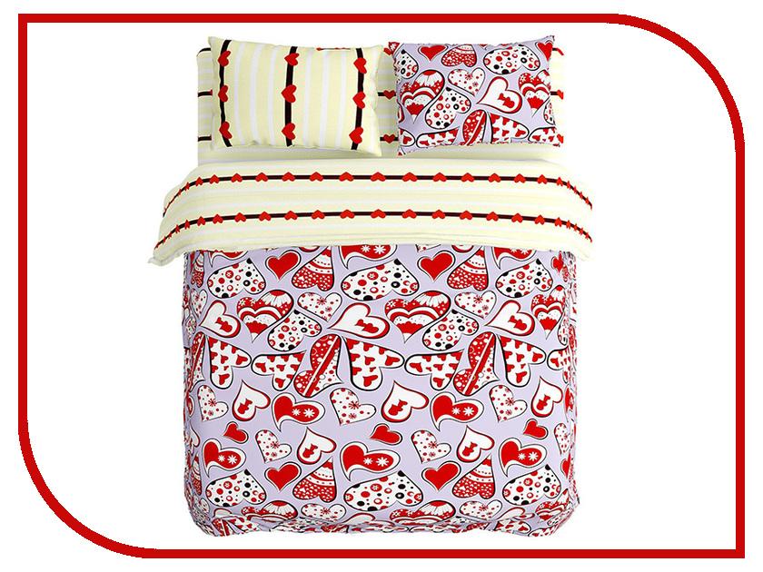 Постельное белье Сирень Любовь Комплект Евро Полисатин КПБЕМ-10422 постельное белье эго комплект 1 5 спальный полисатин