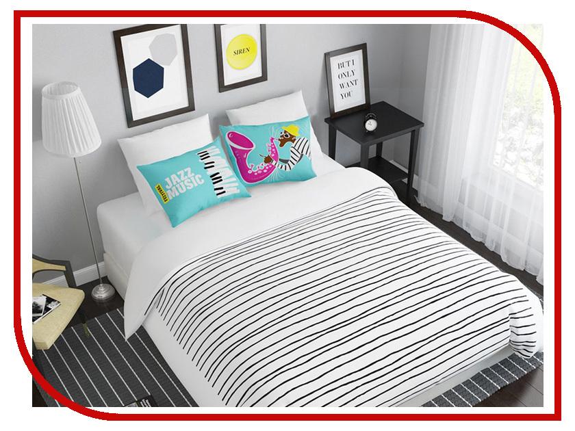 Постельное белье Сирень Джаз Комплект Евро Полисатин 08078-КПБЕ постельное белье эго комплект 1 5 спальный полисатин