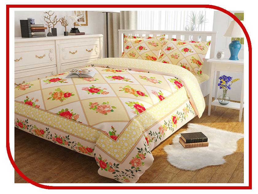 Постельное белье Сирень Благородство роз Комплект Евро Полисатин КПБЕМ-10439 постельное белье эго комплект 1 5 спальный полисатин