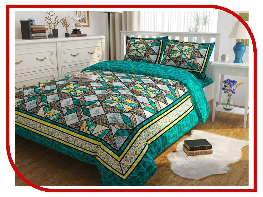 Постельное белье Сирень Изумрудные сны Комплект Евро Полисатин КПБЕМ-10443 постельное белье эго комплект 1 5 спальный полисатин