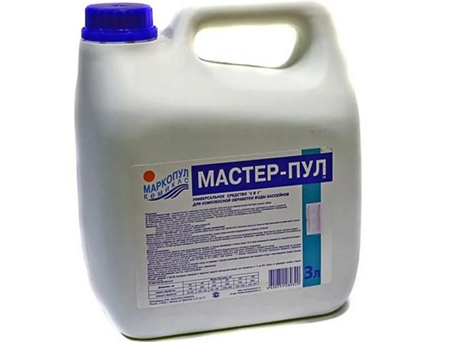 Жидкое безхлорное средство Маркопул-Кемиклс Мастер-Пул 3л М21