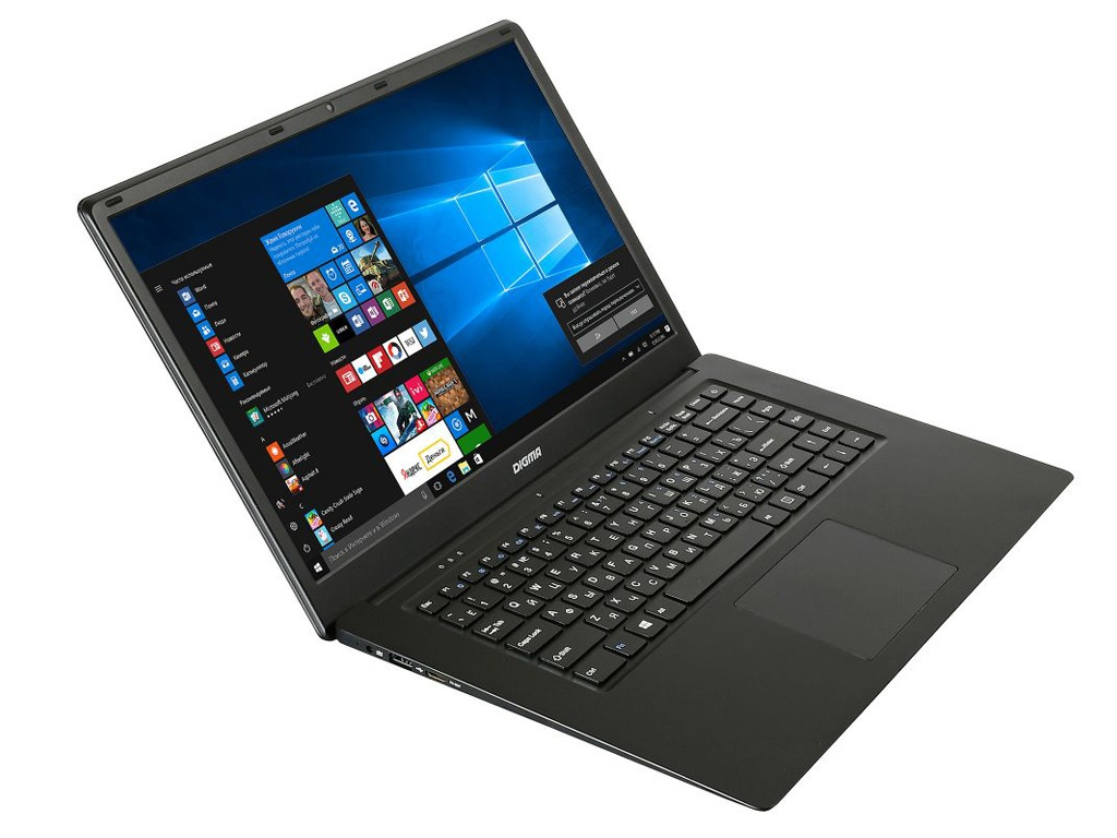 Ноутбук Digma CITI E603 Black (Intel Celeron N3350 1.1 GHz/4096Mb/32Gb SSD/Intel HD Graphics/Wi-Fi/Bluetooth/Cam/15.6/1920x1080/Windows 10 Home 64-bit)