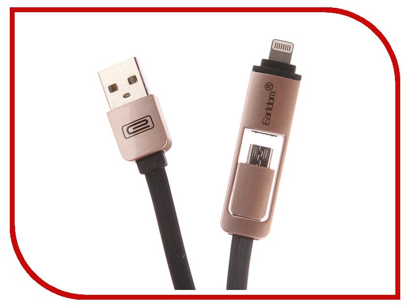 Фото - Аксессуар Earldom ET-608 USB - microUSB/Lightning 8pin Black конструктор nd play автомобильный парк 265 608