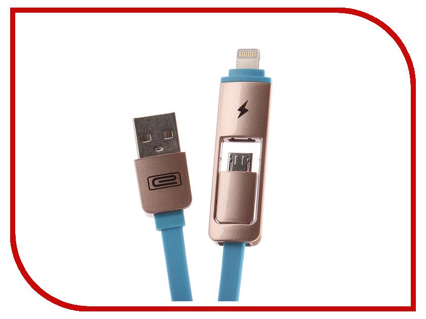 Аксессуар Earldom ET-608 USB - microUSB/Lightning 8pin Blue аксессуар earldom ec 003i usb lightning 8pin light blue