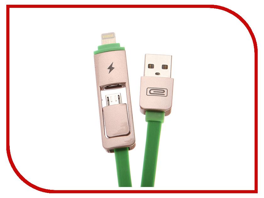 Аксессуар Earldom ET-608 USB - microUSB/Lightning 8pin Green earldom et e3 green
