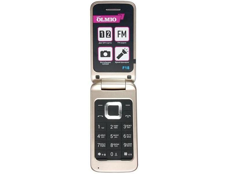 Сотовый телефон Olmio F18 Gold