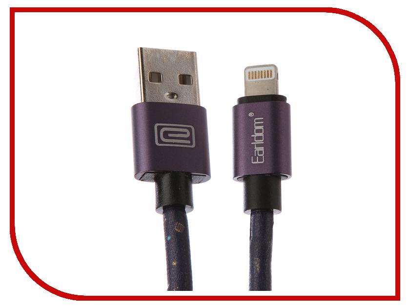 Аксессуар Earldom ET-XT6 USB - Lightning 8pin Purple earldom et e3 green