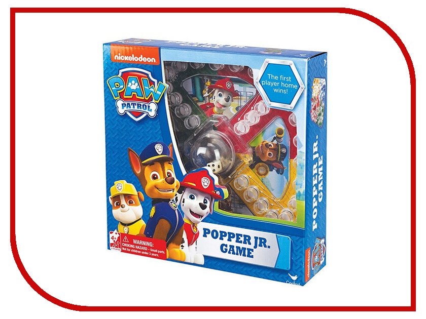 Настольная игра Spin Master Щенячий патруль с кубиком и фишками 6028799