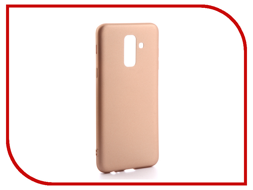 Аксессуар Чехол для Samsung Galaxy A6 Plus 2018 X-Level Guardian Series Gold 2828-142 аксессуар чехол x level guardian для apple iphone 7 8 plus burgundy 2828 015