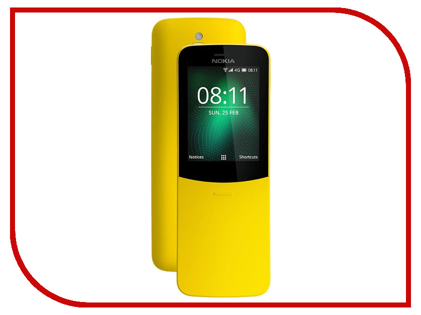 Сотовый телефон Nokia 8110 4G Yellow nokia 230 dark silver