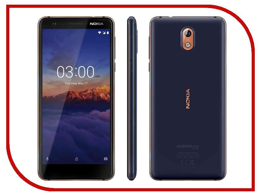 Сотовый телефон Nokia 3.1 16GB Blue сотовый телефон nokia 3310 dual dark blue