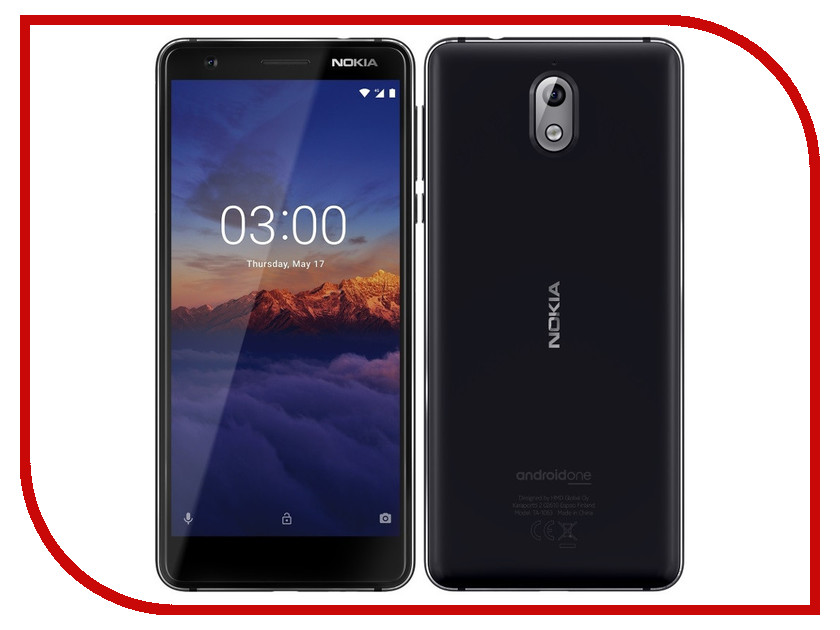 Сотовый телефон Nokia 3.1 16GB Black new black for nokia lumia 630 635 lcd display touch screen with digitizer assembly replacement parts free shipping with tools