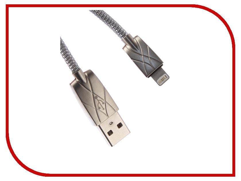 Аксессуар DF USB – Lightning 8 pin 1.0m iMetal-01 Silver