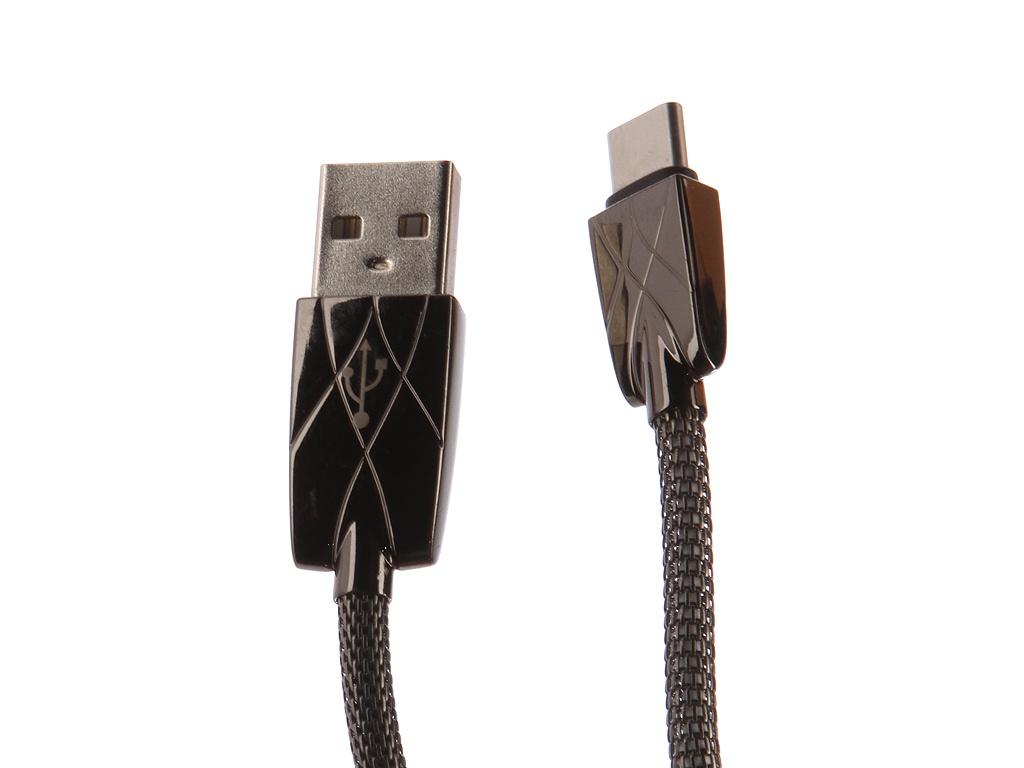 Аксессуар DF USB – Type-C 1.0m cMetal-01 Black аксессуар df usb type c 1m czebra 02 blue black page 6