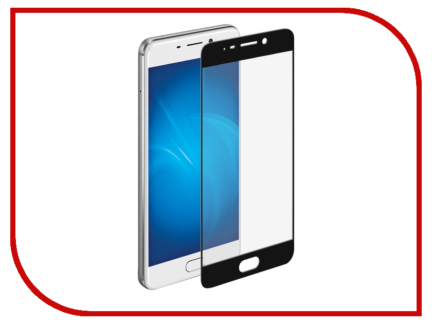 Аксессуар Защитное стекло для Meizu M6 Note Pero 2.5D Black аксессуар защитное