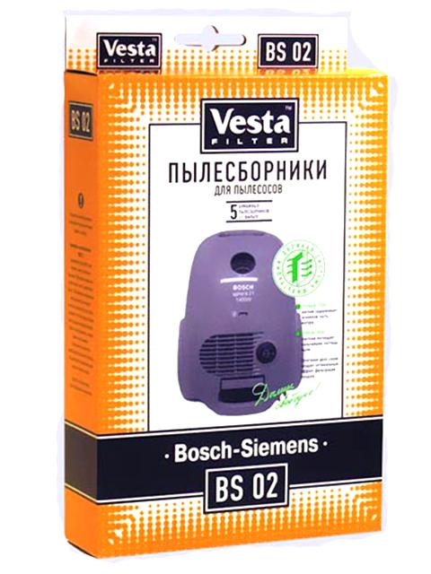 Мешки пылесборные Vesta Filter BS 02 мешки для пыли vesta bs 03 для bosch