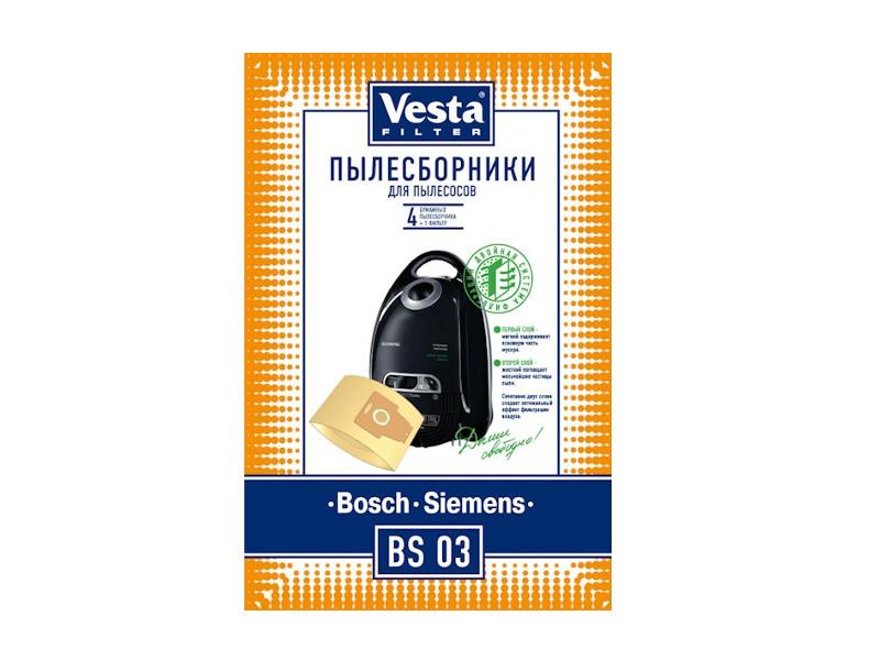 Мешки пылесборные Vesta Filter BS 03 мешки для пыли vesta bs 03 для bosch