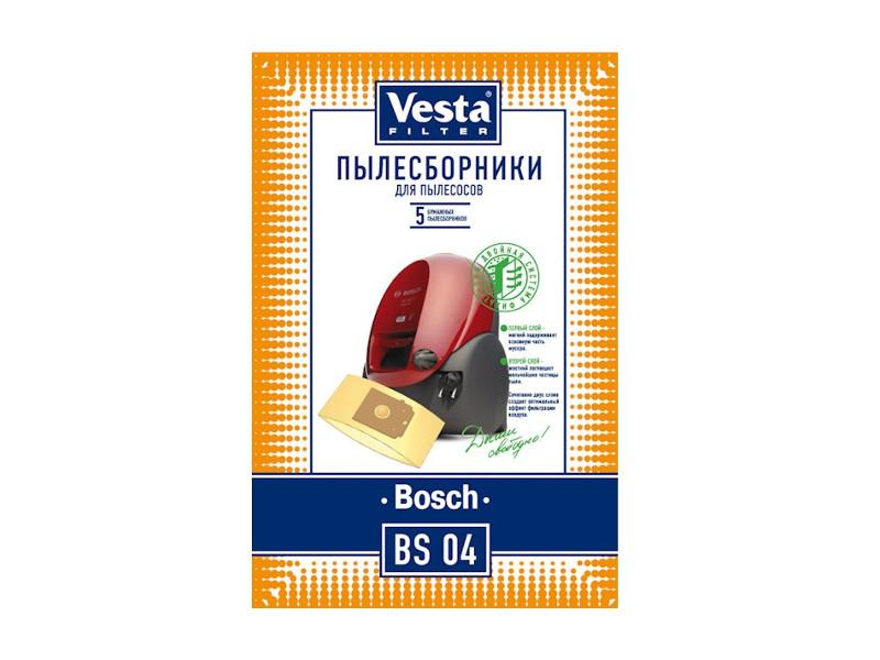 Мешки пылесборные Vesta Filter BS 04 мешки для пыли vesta bs 03 для bosch