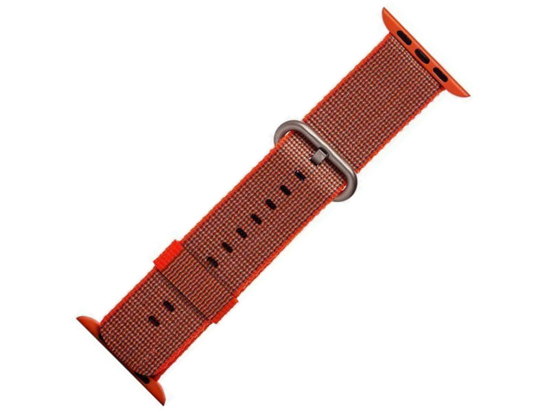 все цены на Аксессуар Ремешок Activ Sport плетеный нейлон для APPLE Watch 42mm Orange 80252 онлайн