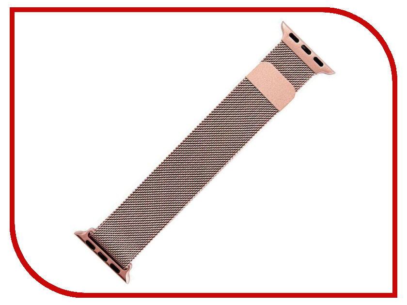 Аксессуар Ремешок Activ металлический сетчатый для APPLE Watch 38mm Rose Gold 85304 40mm corgeut white sterile dial rose gold case miyota automatic mens watch
