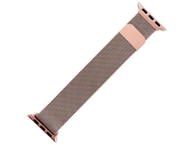Аксессуар Ремешок Activ металлический сетчатый для APPLE Watch 38mm Rose Gold 85304
