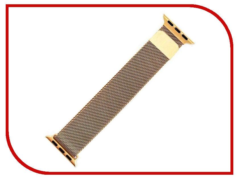 Аксессуар Ремешок Activ металлический сетчатый для APPLE Watch 38mm Gold 85303 weiqin luxury gold wrist watch for women rhinestone crystal fashion ladies analog quartz watch reloj mujer clock female relogios
