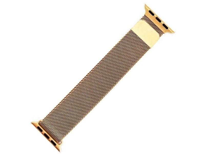 Аксессуар Ремешок Activ металлический сетчатый для APPLE Watch 38mm Gold 85303