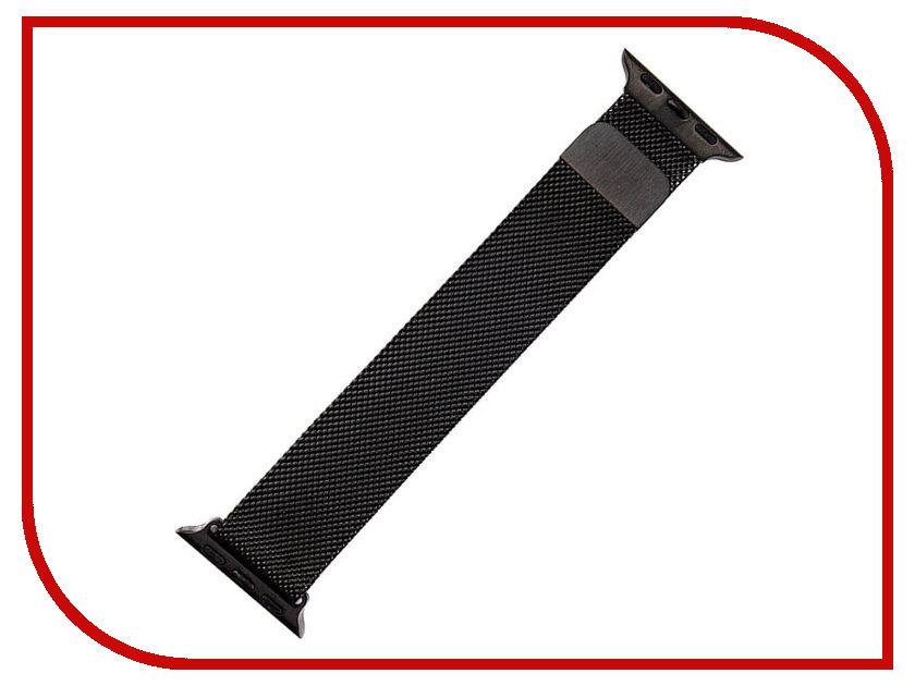 Аксессуар Ремешок Activ металлический сетчатый для APPLE Watch 38mm Black 85302 аксессуар ремешок apple watch 42mm activ black sport band 54325