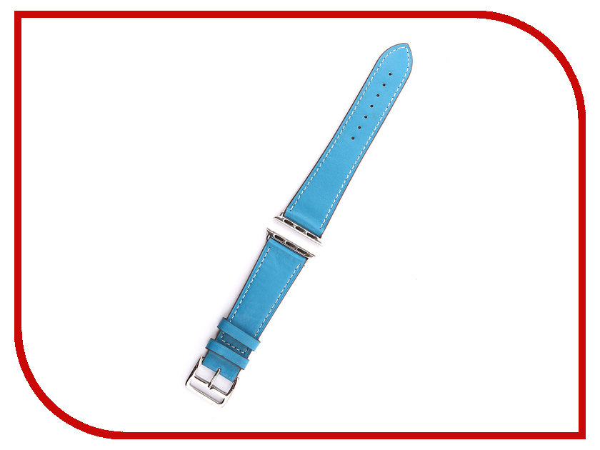 Аксессуар Ремешок Activ гладкая кожа для APPLE Watch 38mm Blue 85299