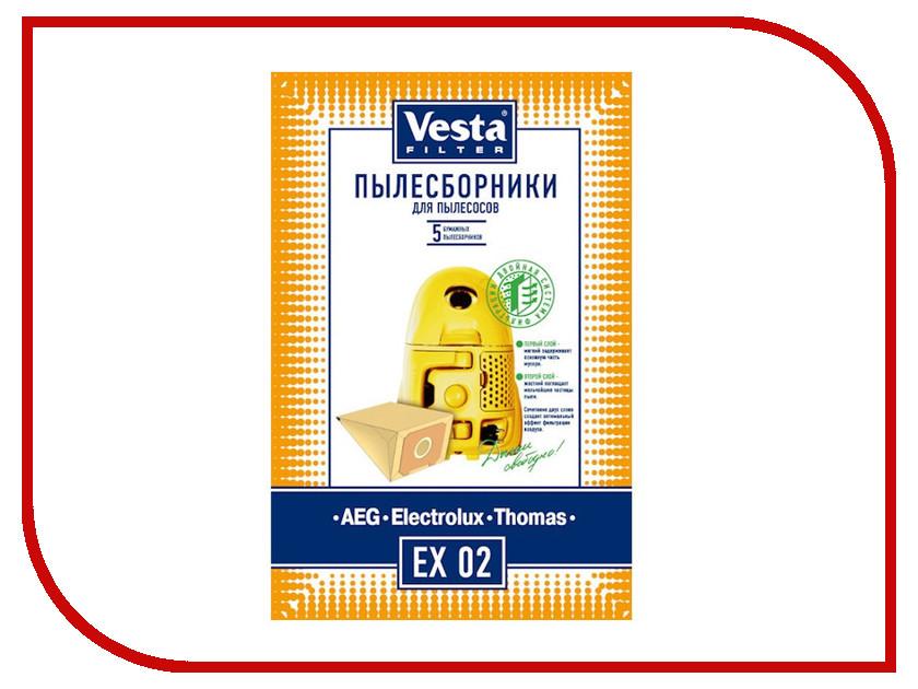 Мешки пылесборные Vesta Filter EX 02 мешки для пыли vesta filter zr 02 для zelmer