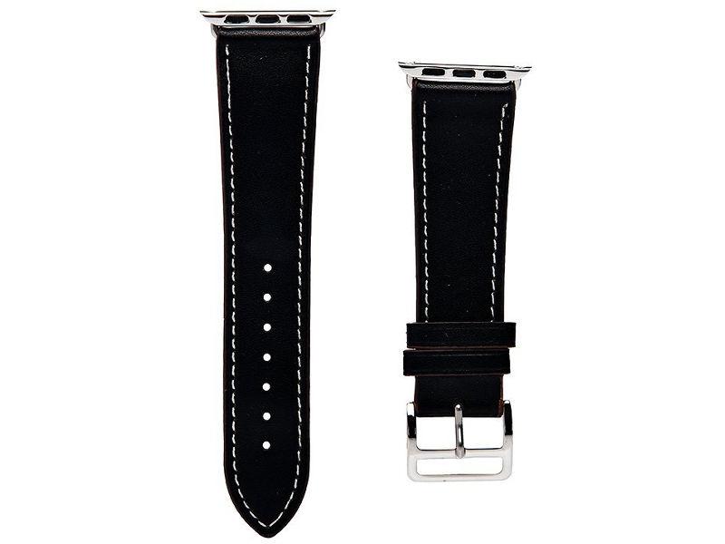 Аксессуар Ремешок Activ гладкая кожа для APPLE Watch 38mm Black 85298