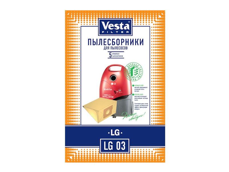 Мешки пылесборные Vesta Filter LG 03