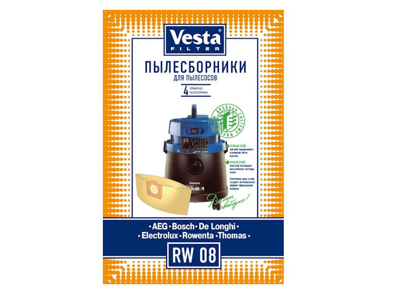 Мешки пылесборные Vesta Filter RW 08