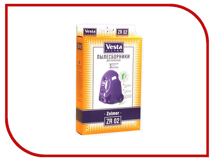 Мешки пылесборные Vesta Filter ZR 02 мешки для пыли vesta filter zr 02 для zelmer