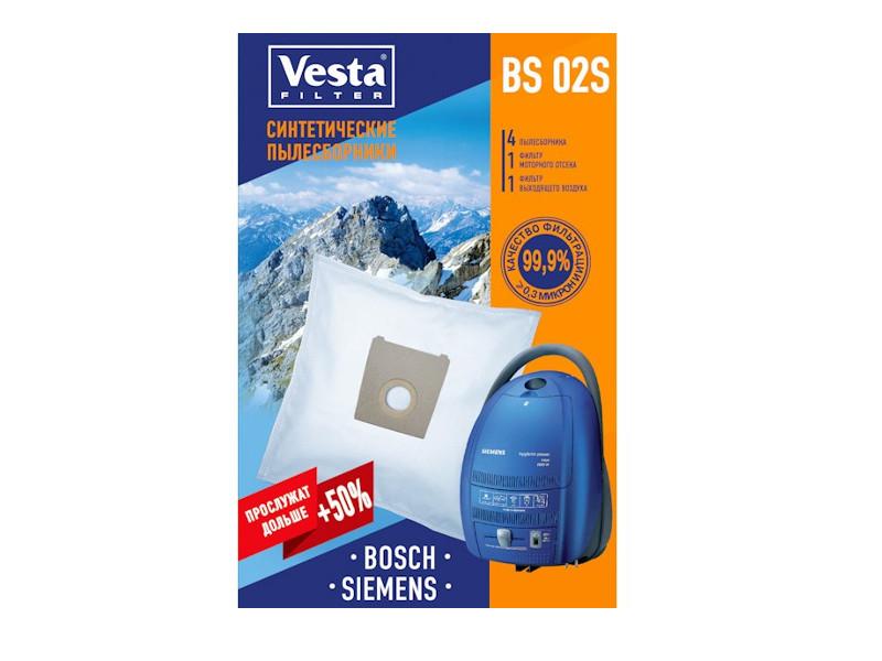 Мешки пылесборные Vesta Filter BS 02 S мешки для пыли vesta bs 03 для bosch